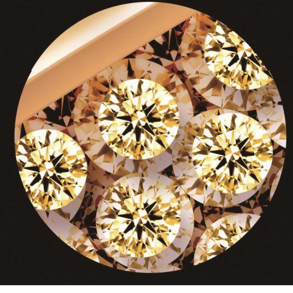 Custom Retail 3D Luxury Best Diamond Flower Jewelry TV Interior Wall Decoration Mural