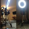 "6.2"" Ring Light with Tripod Stand for YouTube Video and Makeup, Mini LED Camera Light with Cell Phone Holder"